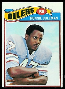 Ronnie Coleman 1977 Topps football card