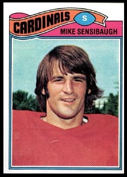 Mike Sensibaugh 1977 Topps football card