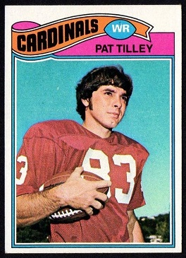 Pat Tilley 1977 Topps football card