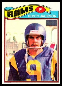 Rusty Jackson 1977 Topps football card
