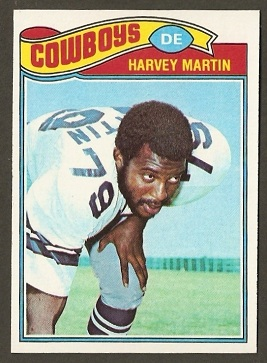 Harvey Martin 1977 Topps football card