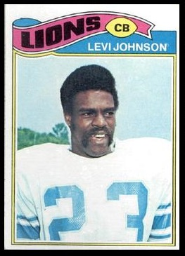 Levi Johnson 1977 Topps football card