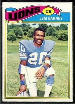Lem Barney 1977 Topps football card