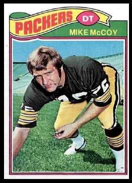Mike McCoy 1977 Topps football card