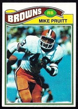 Mike Pruitt 1977 Topps football card
