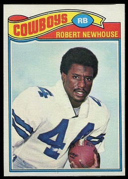 Robert Newhouse 1977 Topps football card