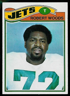 Robert Woods 1977 Topps football card