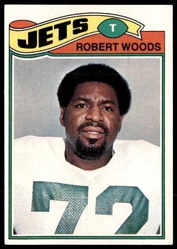 Robert Woods 1977 Topps football card