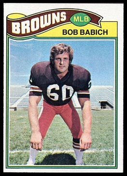 Bob Babich 1977 Topps football card