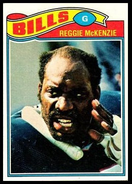 Reggie McKenzie 1977 Topps football card