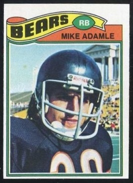 Mike Adamle 1977 Topps football card