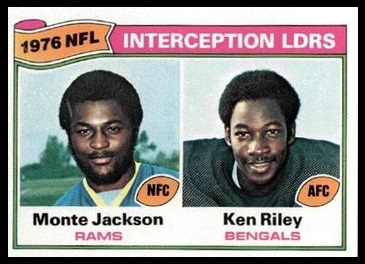 Interception Leaders 1977 Topps football card