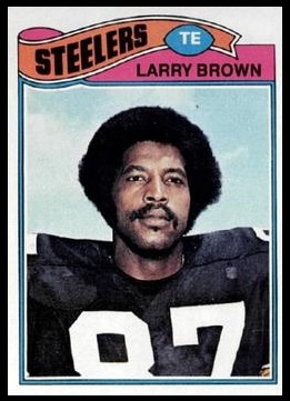 Larry Brown 1977 Topps football card