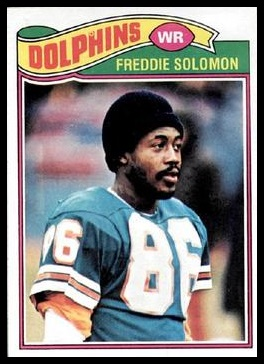 Freddie Solomon 1977 Topps football card