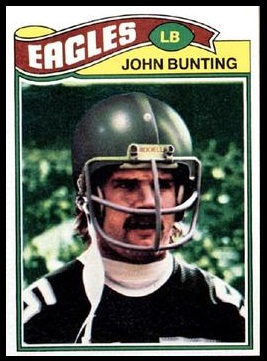 John Bunting 1977 Topps football card
