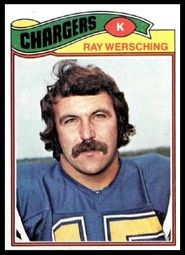 Ray Wersching 1977 Topps football card