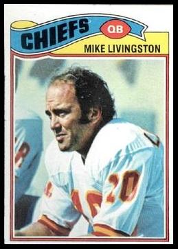 Mike Livingston 1977 Topps football card