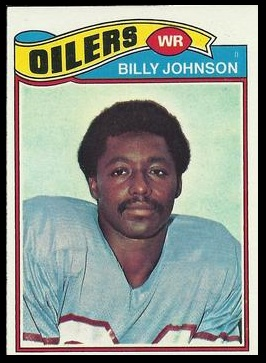 Billy Johnson 1977 Topps football card