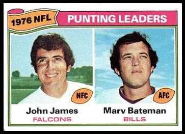 Punting Leaders 1977 Topps football card