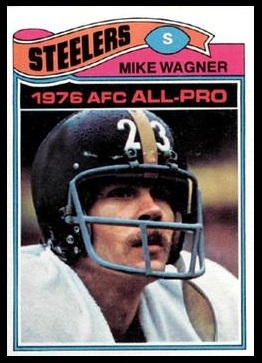 Mike Wagner 1977 Topps football card