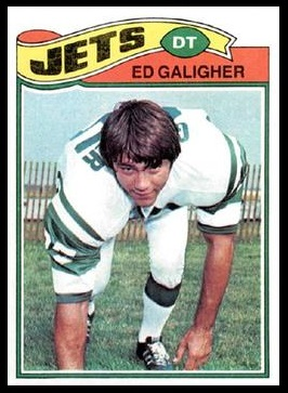 Ed Galigher 1977 Topps football card