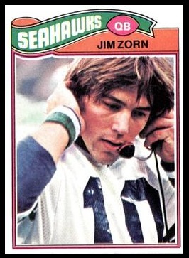 Jim Zorn 1977 Topps football card
