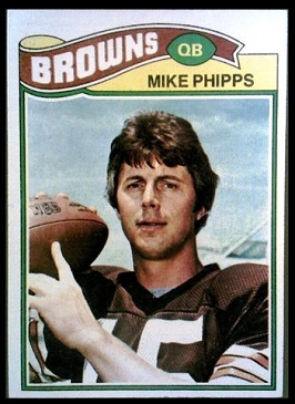 Mike Phipps 1977 Topps football card