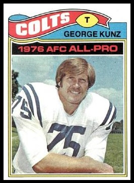 George Kunz 1977 Topps football card