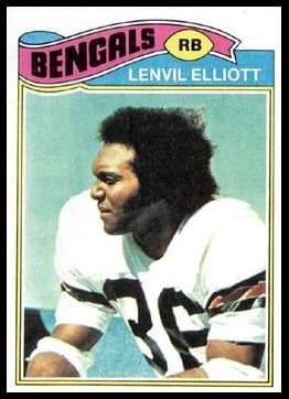 Lenvil Elliott 1977 Topps football card