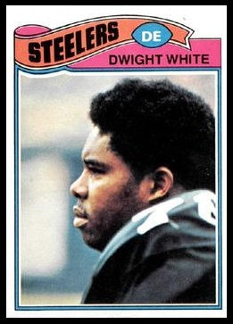 Dwight White 1977 Topps football card