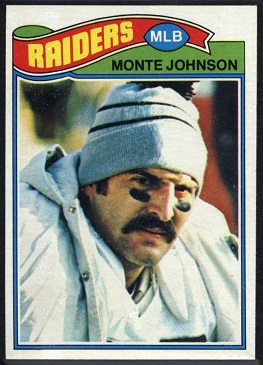Monte Johnson 1977 Topps football card
