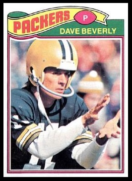David Beverly 1977 Topps football card