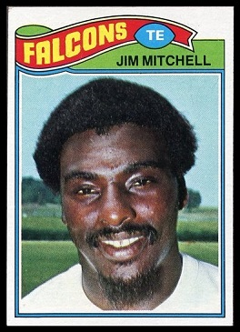 Jim Mitchell 1977 Topps football card