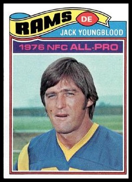 Jack Youngblood 1977 Topps football card