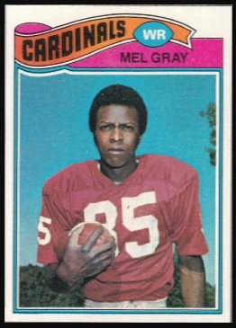 Mel Gray 1977 Topps football card
