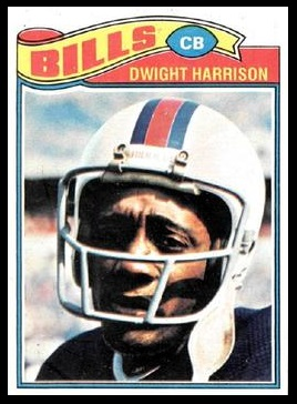 Dwight Harrison 1977 Topps football card