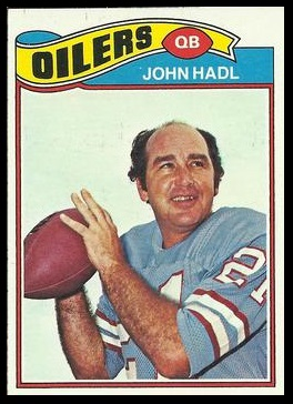 John Hadl 1977 Topps football card