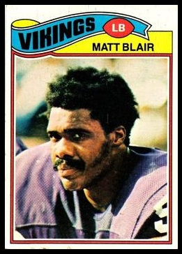 Matt Blair 1977 Topps football card