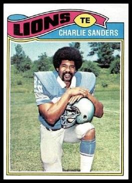 Charlie Sanders 1977 Topps football card