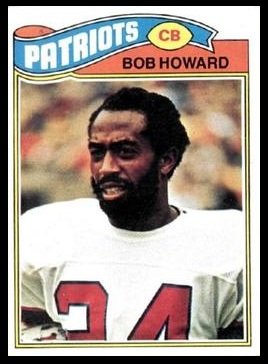 Bob Howard 1977 Topps football card