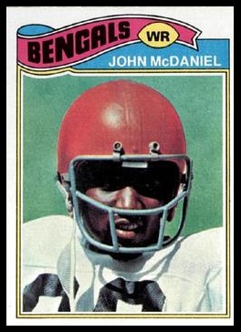 John McDaniel 1977 Topps football card
