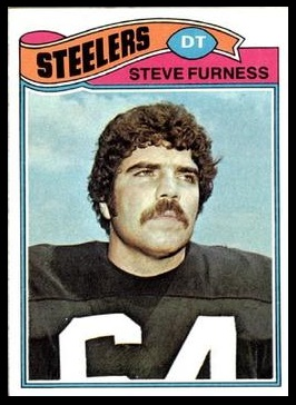 Steve Furness 1977 Topps football card