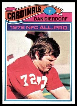 Dan Dierdorf 1977 Topps football card