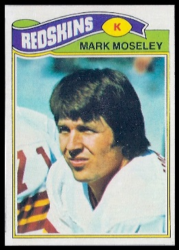 Mark Moseley 1977 Topps football card