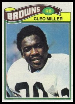Cleo Miller 1977 Topps football card