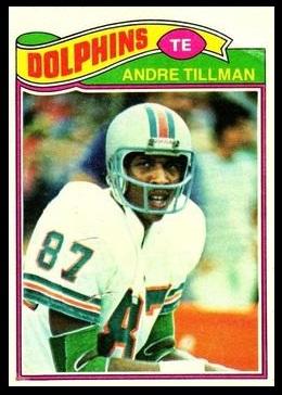 Andre Tillman 1977 Topps football card