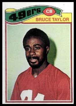 Bruce Taylor 1977 Topps football card
