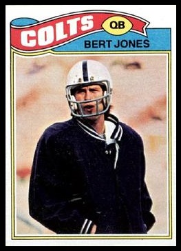 Bert Jones 1977 Topps football card