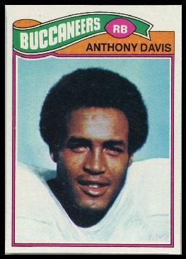 Anthony Davis 1977 Topps football card