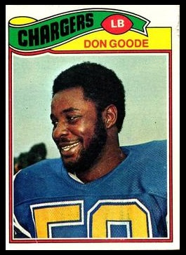 Don Goode 1977 Topps football card